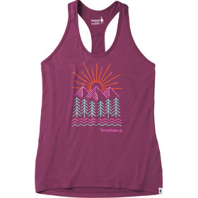 Smartwool Merino Sport 150 Mountain Morning Tank Women Sangria